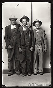 Men in Overalls and Hats