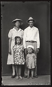 Parents in Hats with Daughter and Son