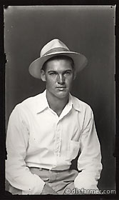 Young Man in White Straw Hat