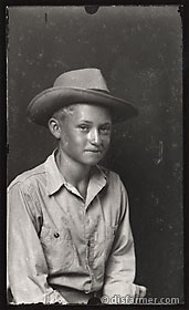 Young Boy from Side in Hat