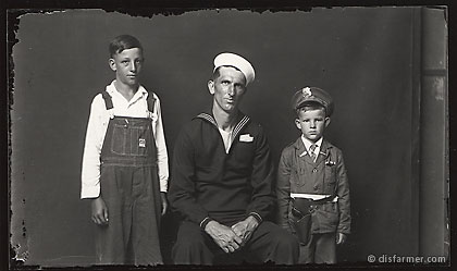 Sailor Father with Two sons